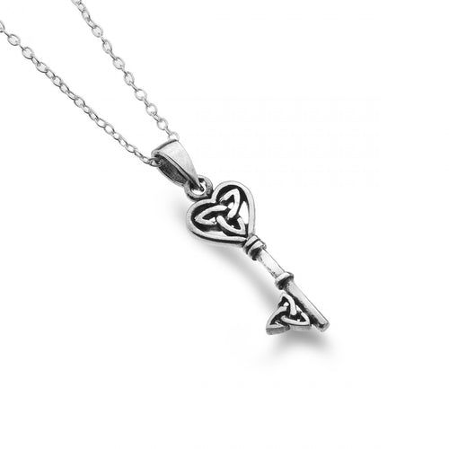 Celtic Heart Key Pendant