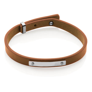 Carmel Sand Leather Bracelet