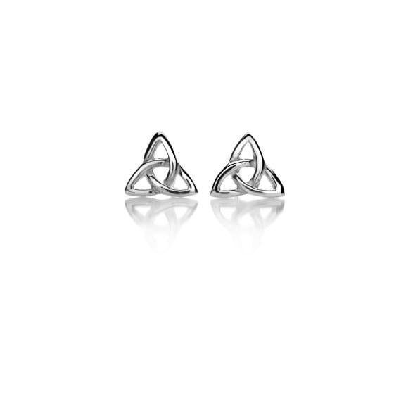 Silver Celtic Trinity Post Earrings