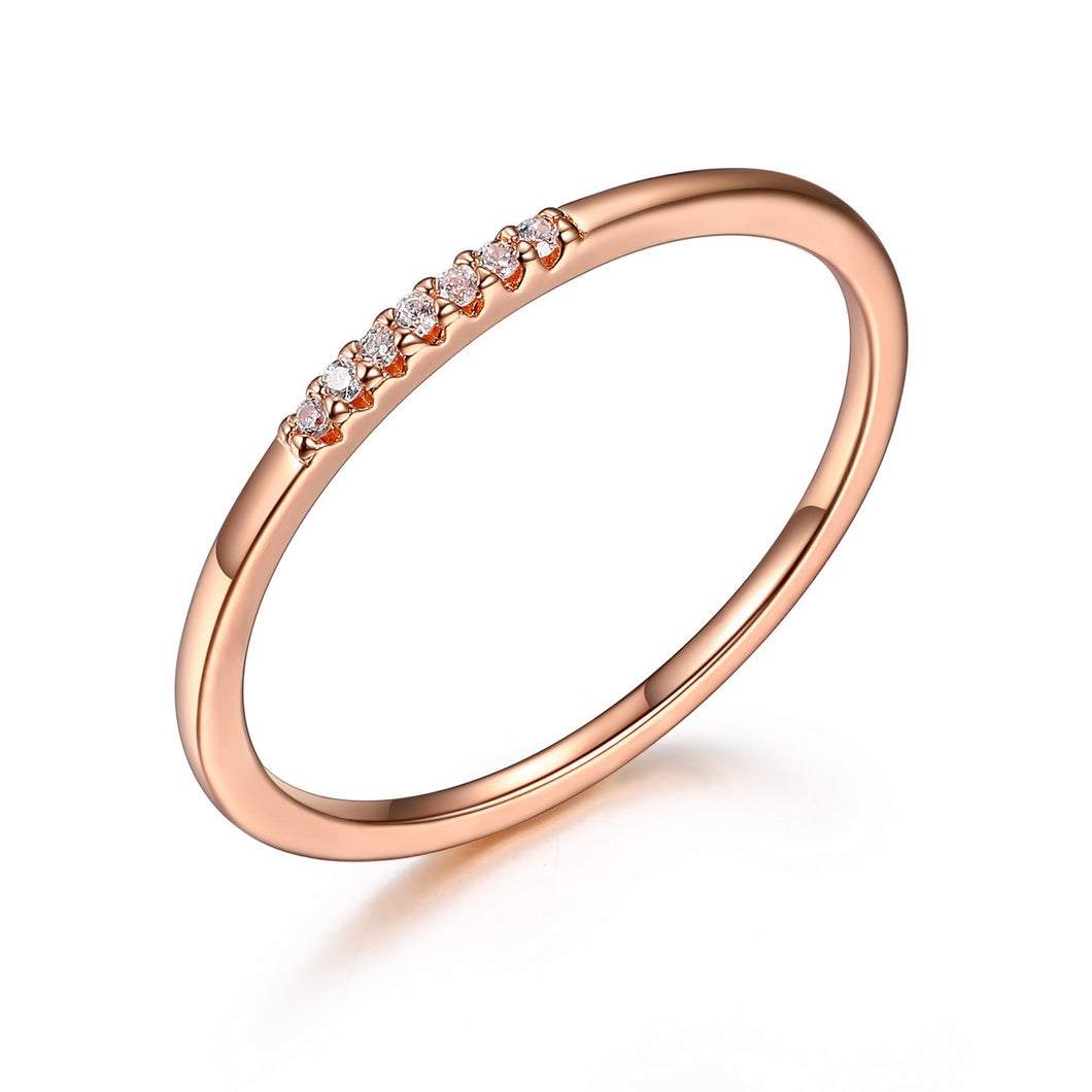 Rose Tone Stackable Ring