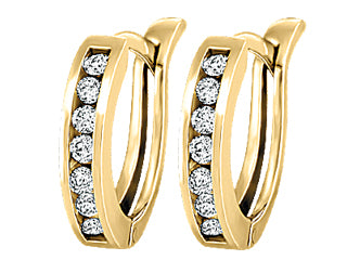 0.20cttw Diamond Huggy Earrings  10k Yellow Gold
