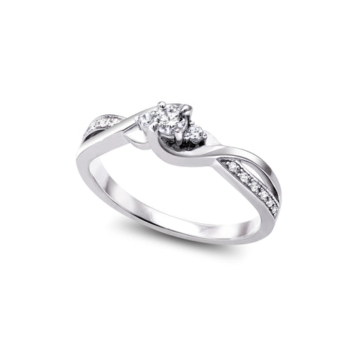 Diamond Engagement Ring  1=0.10ct  14=0.07ct