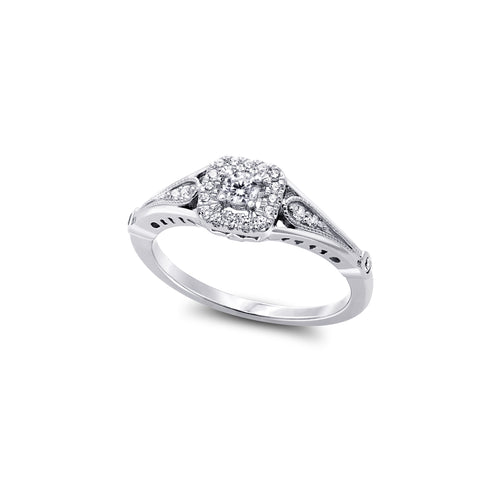 Diamond Engagement Ring  1=0.085ct  22=0.14ct