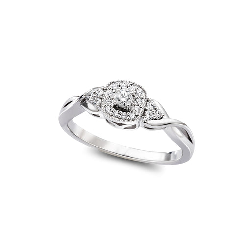 Diamond Engagement Ring  1=0.06ct  18=0.012ct