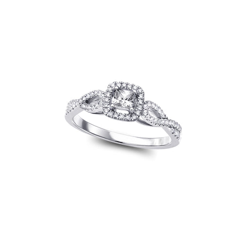 Diamond Engagement Ring  1=0.15ct  62=0.16ct  10k White