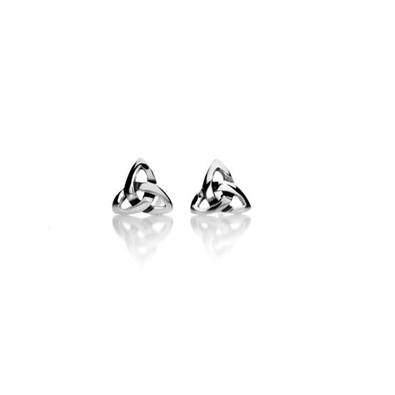 Silver Celtic Trinithy Knot Post Earrings