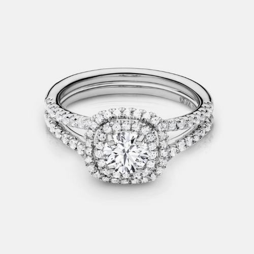 Double Halo Engagment Ring