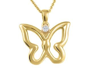 Butterfly Pendant with Diamond