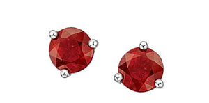 4mm Ruby Stud Earrings 10k White Gold