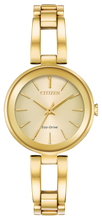 Load image into Gallery viewer, Citizen Eco Drive Watch Gold Tone; Champane Face