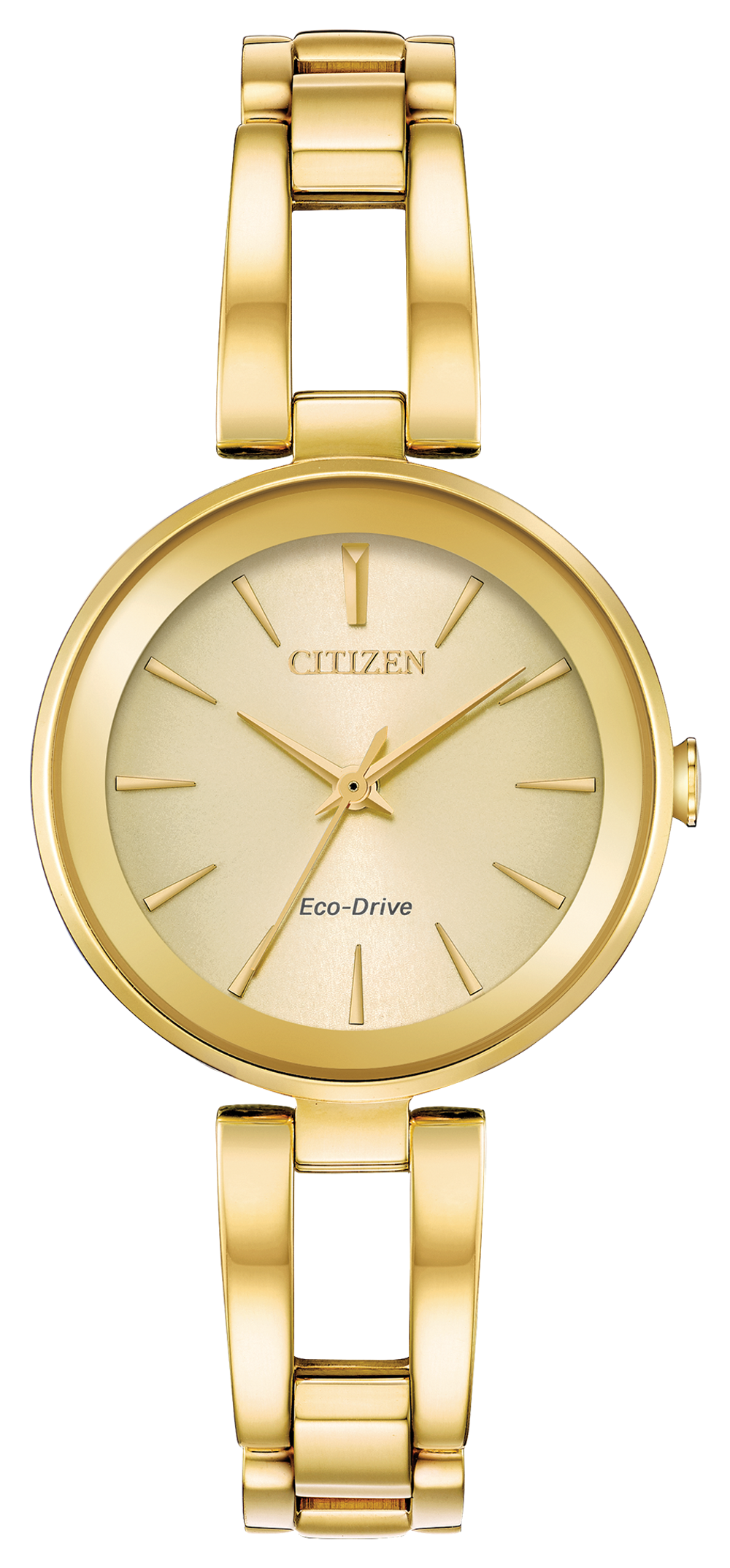 Citizen Eco Drive Watch Gold Tone; Champane Face