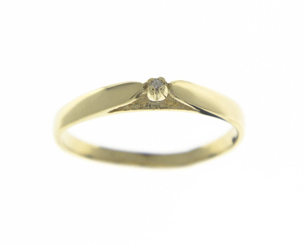Tiny Diamond Solitaire Ring (Estate)