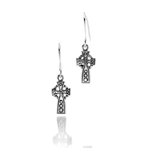 Sterling Silver Small Celtic Cross Earrings