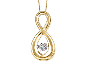 Canadian Diamond Motion Pendant  Comes with 18in chain  10k Yellow Gold  0.052 ct. I-1 Clarity; H colour