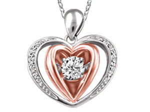Motion Canadian Diamond Heart Pendant