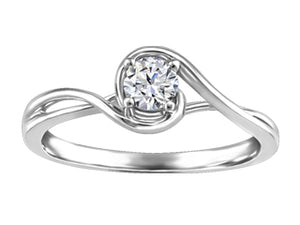 Canadian Solitaire Diamond Ring  Diamond Info: 0.29ct./I-1 clarity/H-colour  14K white gold