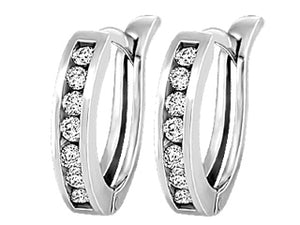 Diamond Huggy earrings  0.20cttw  10k white gold