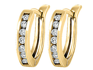 Diamond Huggy Earrings  0.75cttw  10k yellow gold