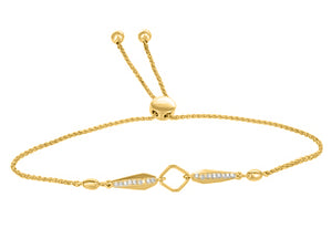 Diamond Bolo Bracelet  0.005 Carat  10K Yellow gold