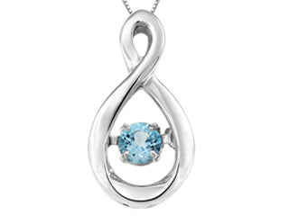 Genuine Blue Topaz motion pendant  Comes with 18in chain  Sterling Silver