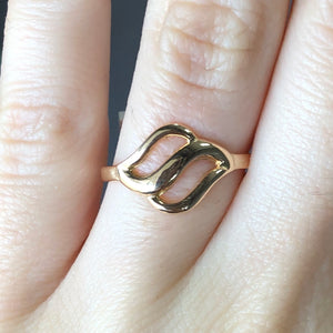 Wave Ring  14K Rose Gold  Size 5.25