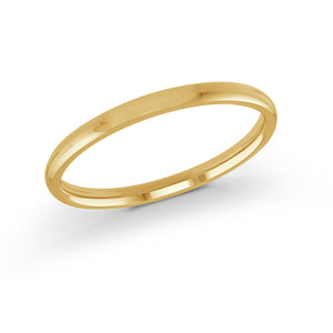 2mm 10K Yellow Gold Band