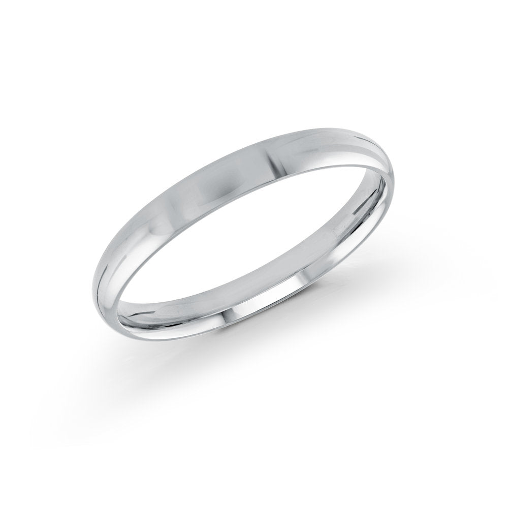 3mm 10K White Gold Band
