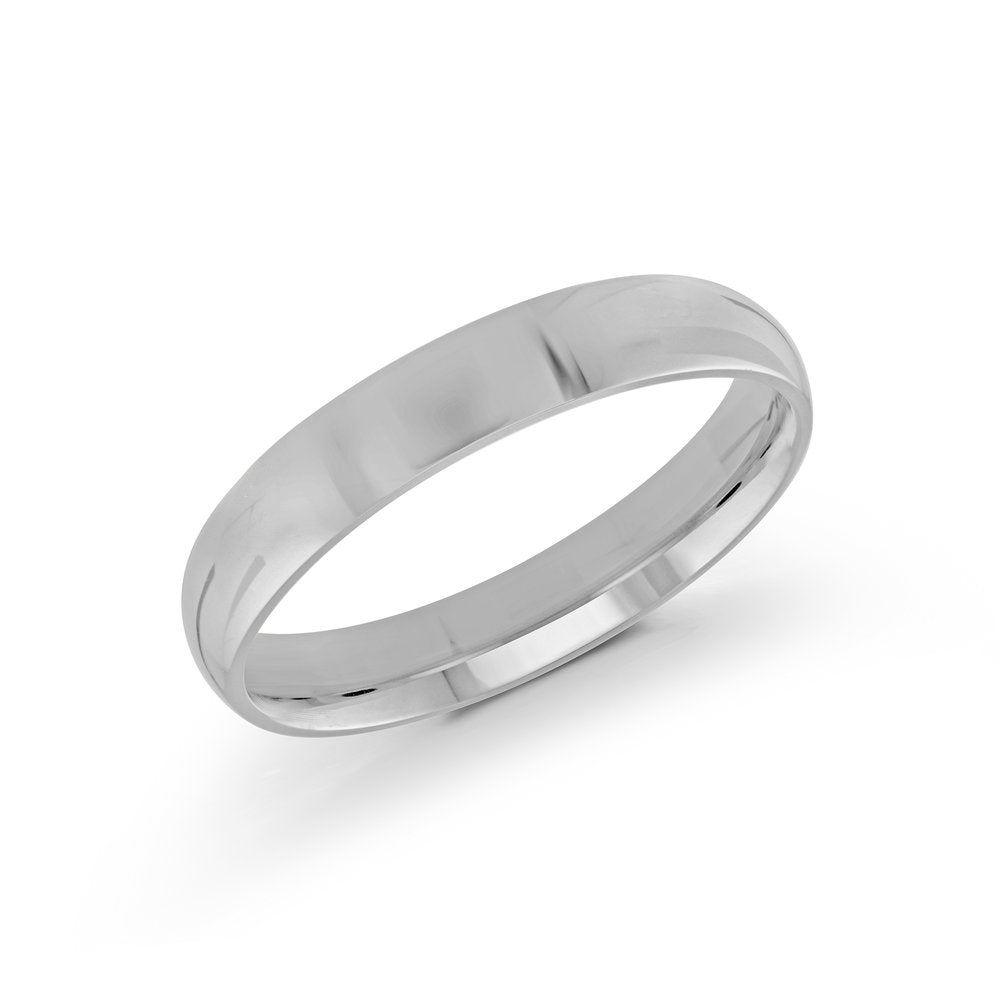 4mm 10K White Gold Band