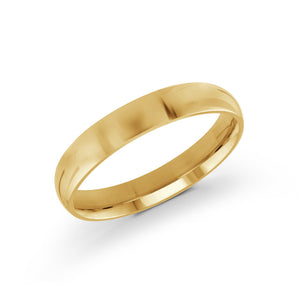 4mm 10k Yellow Gold Band