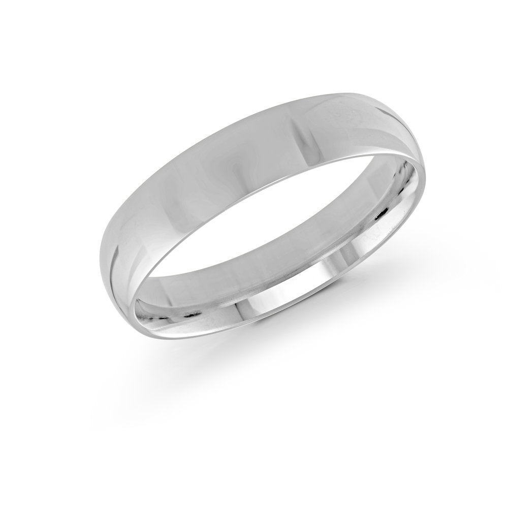 5mm 10K White Gold Band 1.4mm Thickness