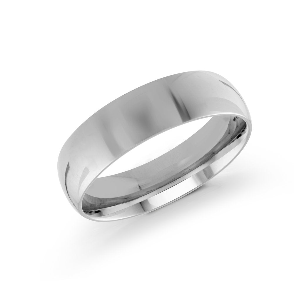 6mm 10K White Gold Band