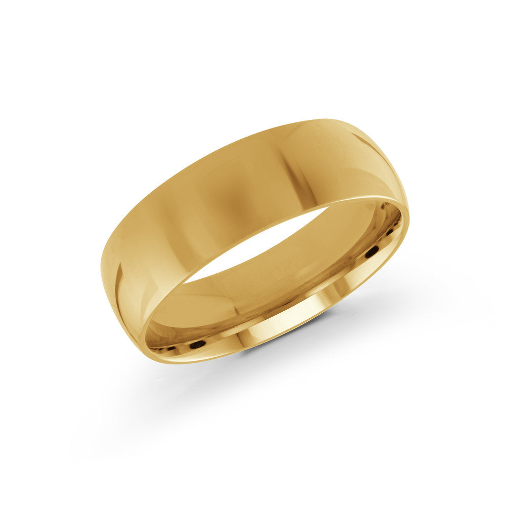 7mm 10K Yellow Gold Band