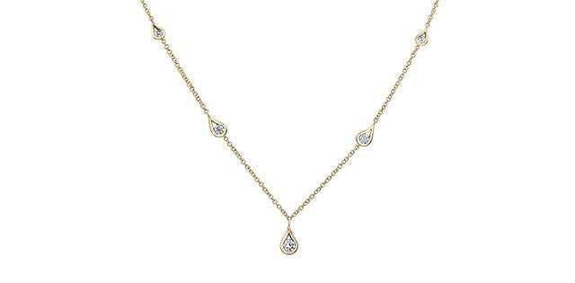Canadian Diamond Tear Drop Necklace
