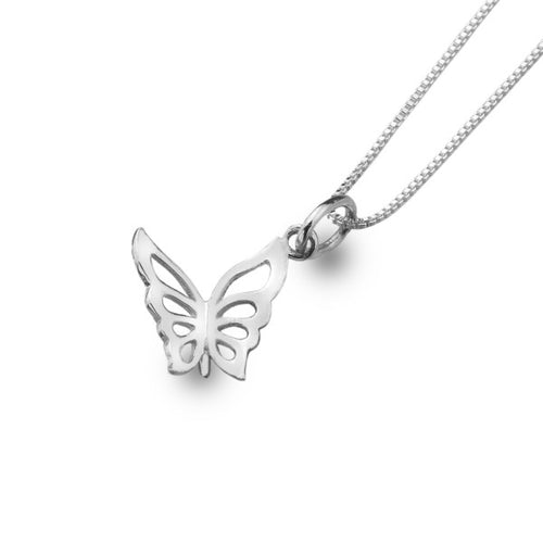 Sterling Silver 3D Butterfly Pendant