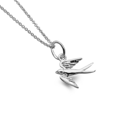 Sterling Silver Small Swallow Bird Pendant