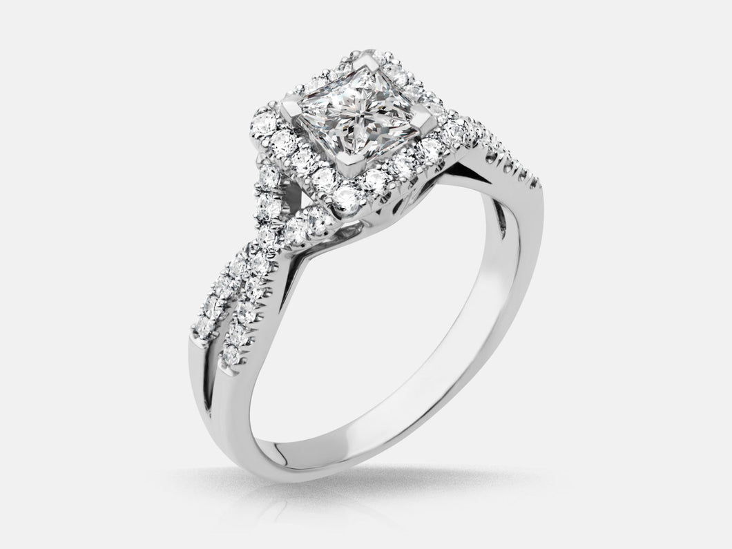 Halo Princess Engagment Ring