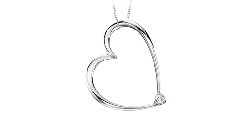 Canadian Diamond Heart Pendant