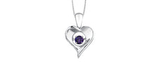 Load image into Gallery viewer, Heart Gemstone Pendant