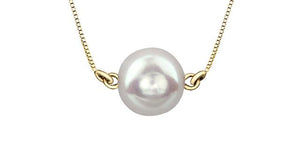 7mm Pearl Necklace 10k Yellow Gold