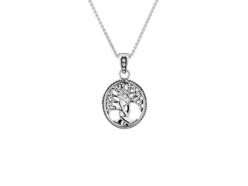 Silver celtic tree of life pendant with chain