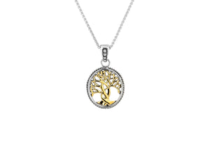 Two-Tone Tree of Life Pendant