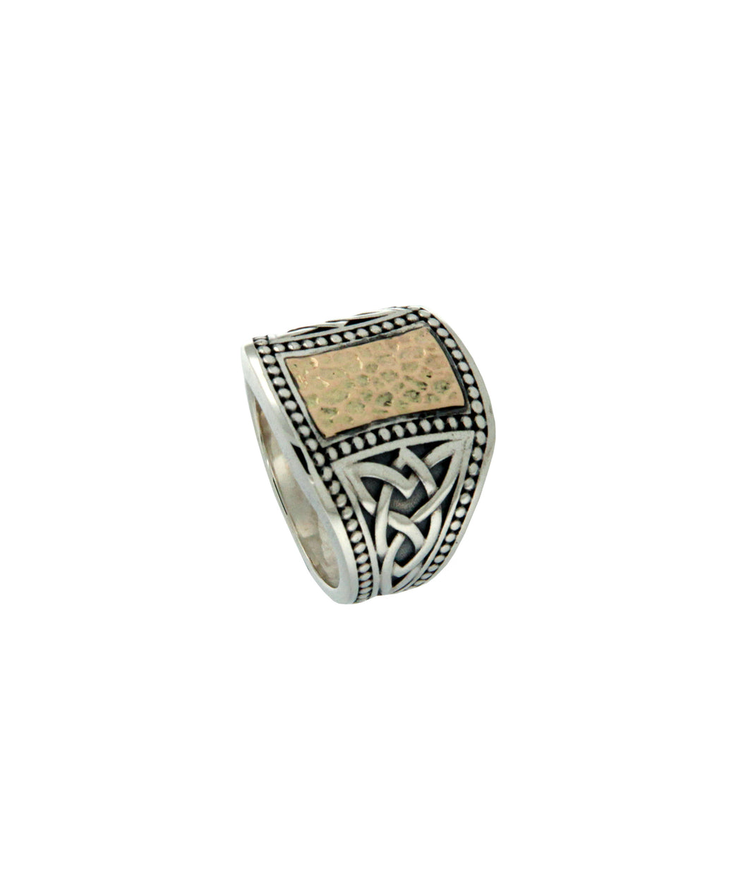 Hammered Signet Ring