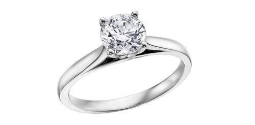 Solitaire Canadian Diamond Ring  14K white gold  0.20ct/I-1 clarity/F colour/Good cut