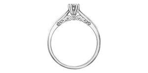6.75- Diamond Engagement Ring 0.04ct Plus 0.04cttw Accent Diamond 10K White Gold