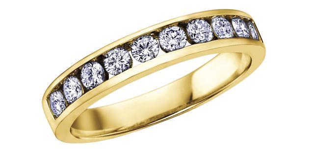 0.33cttw Diamond Anniversary Band 14k Yellow Gold