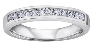 Diamond Anniversary Band  14K white gold  0.33 ct