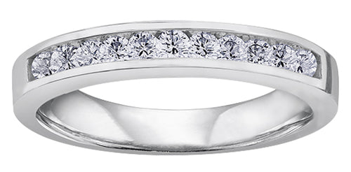 Diamond Anniversary Band  14K white gold