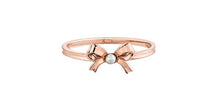 Load image into Gallery viewer, 6.75 Fresh Water Pearl Bow Ring 10K Rose Gold