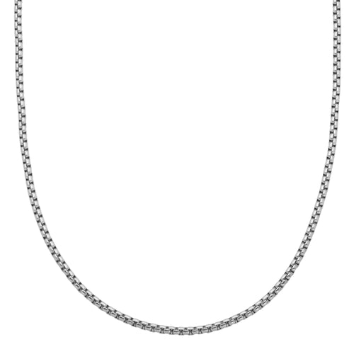 ~0.8mm Width  Sterling Silver  Box Chain