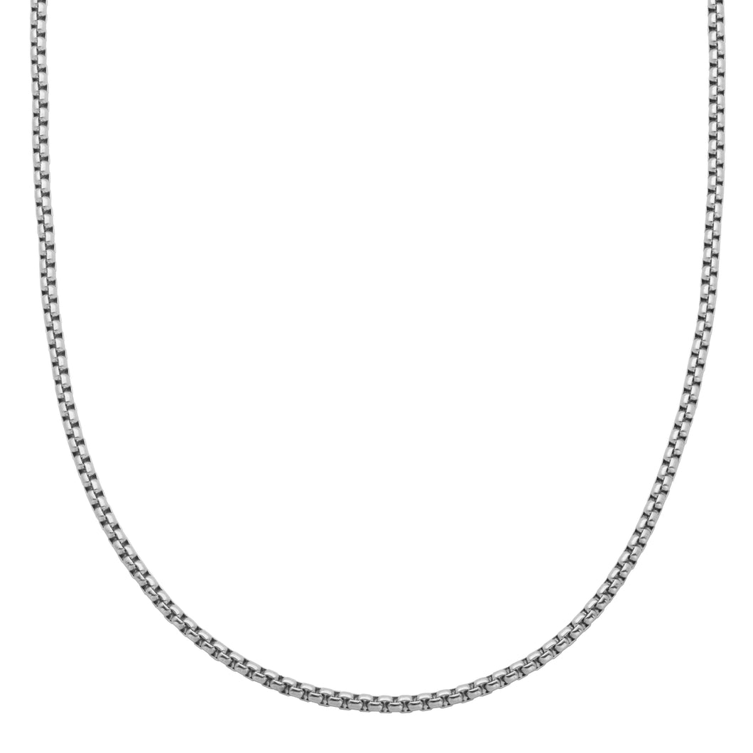 ~1.4mm Width  Sterling Silver  Box Chain